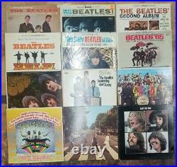 12 Beatles Vinyl LP Album Lot! Great starter! USED BUT NICE SHAPE. VG to VG+