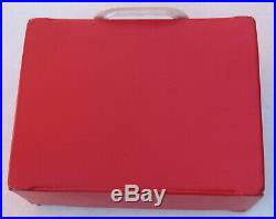 1964 Vintage The Beatles Red Vinyl Nems Air Flite Lunchbox Lunch Box SUPER RARE