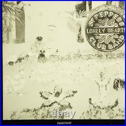 1969 The Beatles Sgt Pepper's Original Vinyl Album EMI Magenta Printer Negative