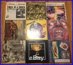27 12 LP Vinyl Rock Record Lot! The Beatles, Led Zeppelin, King Crimson, + MORE