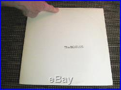 BEATLES THE WHITE ALBUM WHITE VINYL MISTAKE PRESSING With POSTER & HEAD PICTURES
