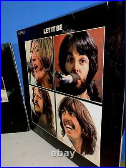 BEATLES let it be Box Set 1970 German Release With Book No Box One Owner Vinyl