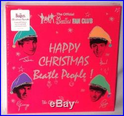 BOX SET THE BEATLES Christmas Records (7 x 45's, Colored Vinyl) NEW MINT SEALED