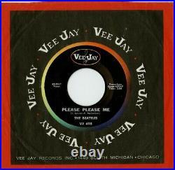 Beatles 45 PLEASE PLEASE ME Vee Jay 498 2 TTs Gorgeous VERY RARE