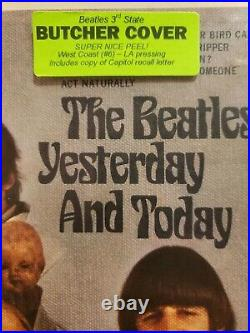 Beatles BUTCHER COVER 3rd state peeled mono AMAZING CONDITION Yesterday Today