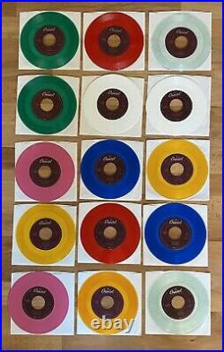 Beatles Colored Vinyl 45rpms Set Of 15 1st Series (January 1994)