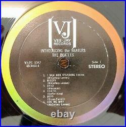 Beatles Introducing The Beatles STEREO Vee Jay VJ Album Version 2 VG Brackets