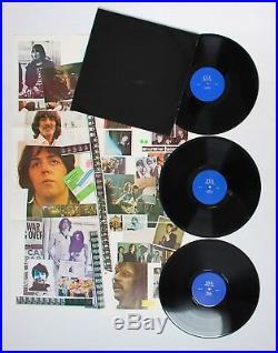 Beatles The Black Album Vinyl 3 Lp Poster Original Let It Be White Let It Be Ex+