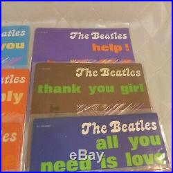 Beatles The Greatest Story Italy Lot of 17 45 rpm 7 Vinyl RARE Collection 1976