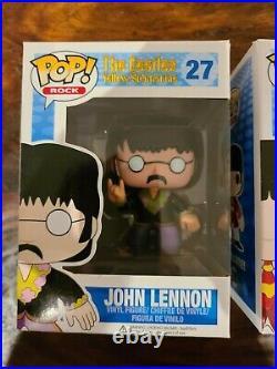 Beatles Yellow Submarine Funko Pop Set John Paul George Ringo Blue Meanie 27 28+