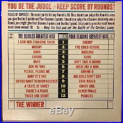 Beatles vs The Four Seasons vinyl record LP DX-30 mono / no poster