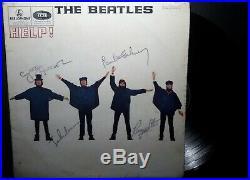 Disque Vinyle Dedicace The Beatles Help