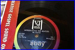 EX RARE AUTHENTIC 1964 VEE JAY STEREO INTRODUCING THE BEATLES lp album VJLP 1062