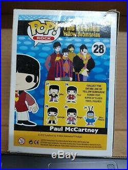 Funko POP Rock The Beatles Yellow Submarine 28 Paul McCartney Boxed
