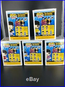 Funko Pop! 2012 The Beatles Yellow Submarine Funko Pop 5 Pc Set Vaulted Rare
