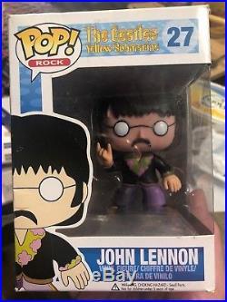 Funko Pop 27 John Lennon The Beatles + Pop Protector. Some box damage