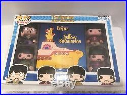Funko Pop Pop Rocks #1 The Beatles Collectors Set Rare Hard To Find Set Og Clean