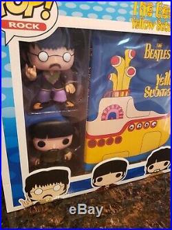 Funko Pop! Rock The Beatles Yellow Submarine Collector's Set Mib Grail