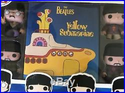 Funko Pop Rock The Beatles Yellow Submarine Collector's Set Plus Booklet