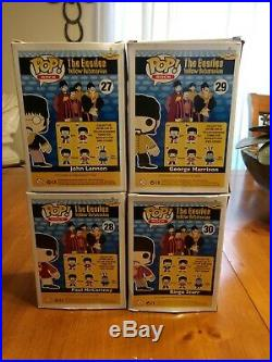 Funko Pop The Beatles Set Of 4 McCartney, Starr, Lennon & Harrison