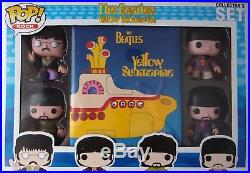 Funko Pop! The Beatles Yellow Submarine box set, Beatles Pops and booklet, rare