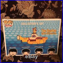 Funko Pop Vinyl THE BEATLES Yellow Submarine 4 Pack Figure Lot RARE