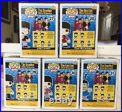 Funko Pop Vinyl THE BEATLES Yellow Submarine COMPLETE SET 5 Figure Lot RARE