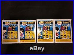 Funko Pop Vinyl The Beatles Yellow Submarine All Four Band Members