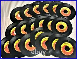 INCREDIBLE BEATLES LOT ALL 19 CAPITOL SWIRL 45s + 18 PICTURE SLEEVES + BONUS