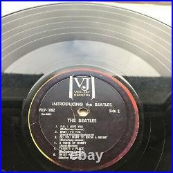 Introducing The Beatles Us Press Vee Jay Vinyl Lp Vjlp-1062 Sr 1062 63-3402