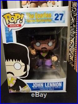 JOHN LENNON FUNKO POP ROCK THE BEATLES Vinyl Figure #27 NEW RARE VAULTED