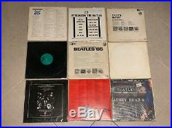Lot of (9) THE BEATLES LP Vinyl Records Sgt Pepper's, Abbey Road, Let It Be