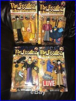 McFarlane The Beatles Lot of 4 Yellow Submarine Figures NEW