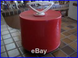 NEMS THE BEATLES 45 Plastic Red Carry Case Vinyl Records Vintage plus 5 45s