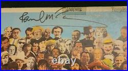 PAUL MCCARTNEY SIGNED THE BEATLES SGT PEPPERS VINYL AUTOGRAPHED WithCOA+PROOF WOW