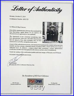 PAUL McCARTNEY Signed Autographed The Beatles HEY JUDE Album with Vinyl PSA/DNA