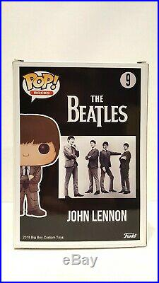 Pop Funko CUSTOM JOHN LENNON The Beatles Exclusive Collectible Rocks Chase Vinyl