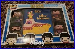 RARE Funko Pop! Rock The Beatles Yellow Submarine, Collector's Set NIB
