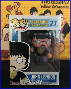 Retired Beatles Funko Pop Set 5 Figures Yellow Submarine! #27, 28, 29, 30, 31