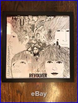 Revolver Remastered by The Beatles Signed by artist Klaus Voormann Vinyl framed