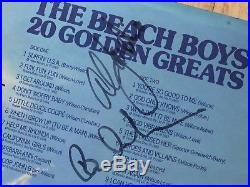 SIGNED BY 5! The Beach Boys Dennis, Carl Wilson Golden Hits vinyl LP Beatles