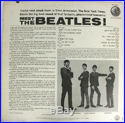 ST 2047 Meet The Beatles! 1966 Capitol Records Vinyl Stereo 4th Label Variation