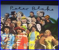 Signed Peter Blake Sgt Pepper Album Vinyl Record 3 Autographs Rare The Beatles