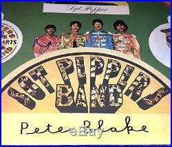 Sir Peter Blake Signed The Beatles Sgt Peppers 50th Anniversary Vinyl Album Rare