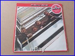THE BEATLES 1962-1966 RED ALBUM 2 x LP RARE UK ORIGINAL RED VINYL ISSUE PCSPR717