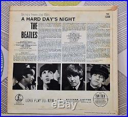 THE BEATLES A HARD DAY'S NIGHT 12 Inch Vinyl Album 1964 PMC 1230 XEX 481-3N