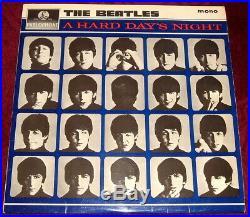 THE BEATLES. A HARD DAYS NIGHT. ORIGINAL 1964 3N 1st PRESSING EX PLUS MONO VINYL