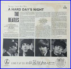 THE BEATLES A Hard Day's Night 1964 UK 2nd Pressing MONO vinyl LP EXCELLENT