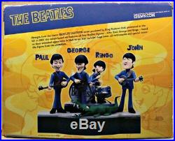 THE BEATLES ANIMATED 4-Figure Deluxe Box Set McFarlane Cartoon Toys, 2004 MIB