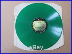 THE BEATLES Abbey Road LP RARE 1978 UK ORIGINAL GREEN VINYL PRESSING PCS7088